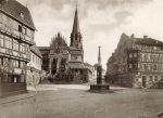 Blick auf den Stiftsplatz um 1900