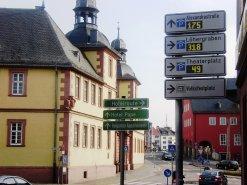 Das Parkleitsystem in Aschaffenburg