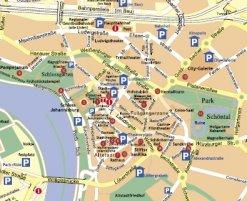 Stadtplan mit Rundgang