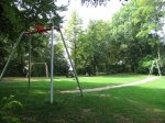 Seilbahn auf dem Spielplatz Schönberg