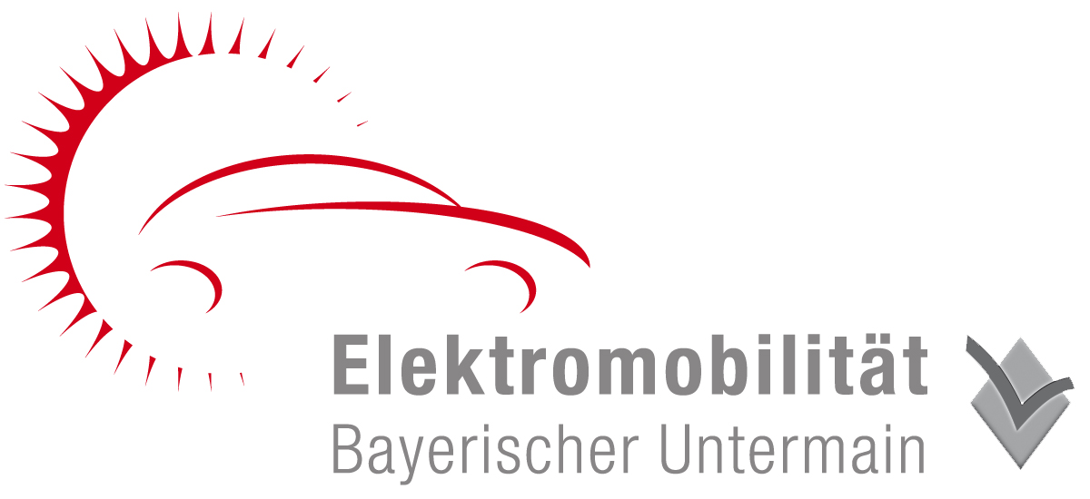 Logo Elektromobilität Bayerischer Untermain