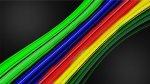 Bild einer vergrößerten Glasfaser
