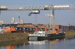 Ansicht des Containerterminals