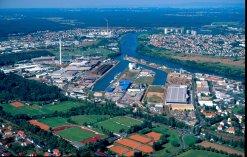 Luftbild Bayernhafen Aschaffenburg