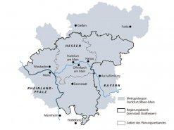 Räumliche Ausdehnung der Metropolregion Frankfurt/Rhein-Main