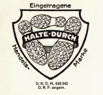 Logo einer eingetragenen Handelsmarke: Halte durch (aus: SSAA, SBZ I 2107)